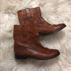 Frye Anna Shortie Leather Booties